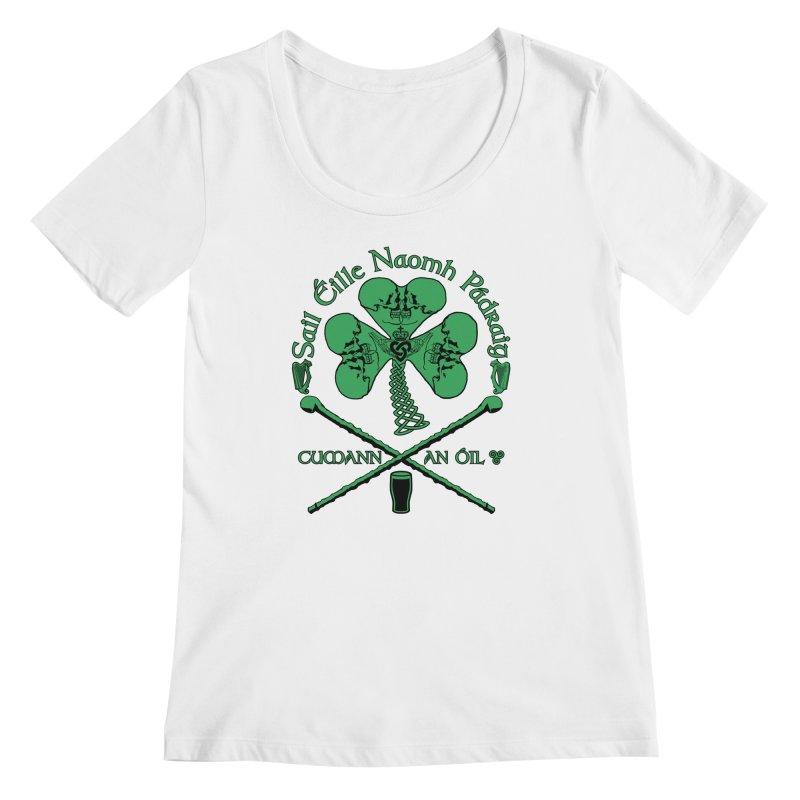 Saint Patrick's Shillelagh Drinking Society Women's Regular Scoop Neck by Peregrinus Creative