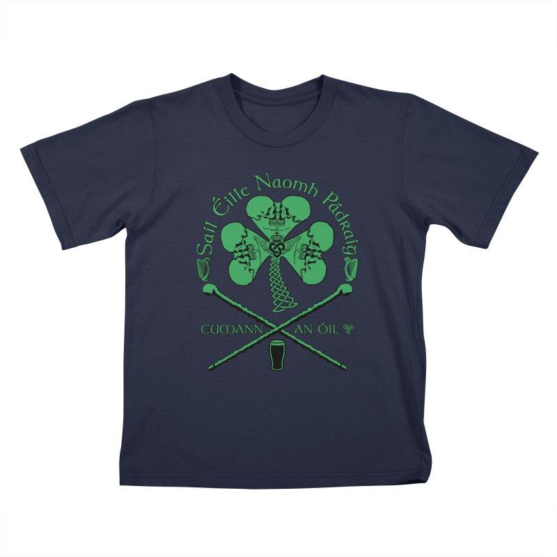 Saint Patrick's Shillelagh Drinking Society Kids T-Shirt by Peregrinus Creative