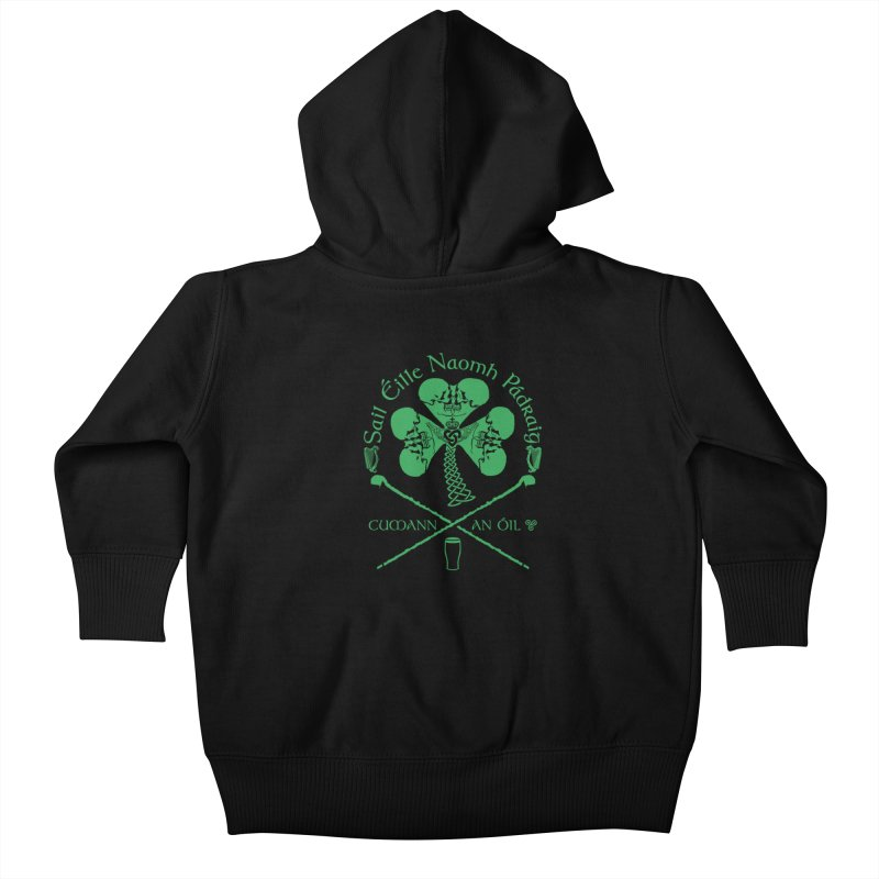 Saint Patrick's Shillelagh Drinking Society Kids Baby Zip-Up Hoody by Peregrinus Creative