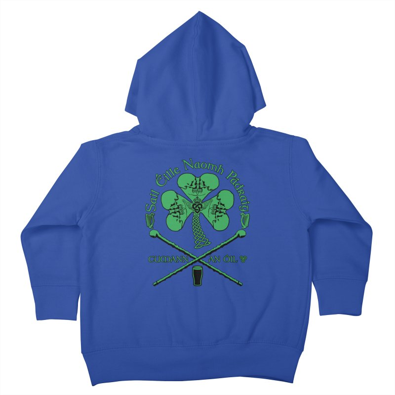 Saint Patrick's Shillelagh Drinking Society Kids Toddler Zip-Up Hoody by Peregrinus Creative