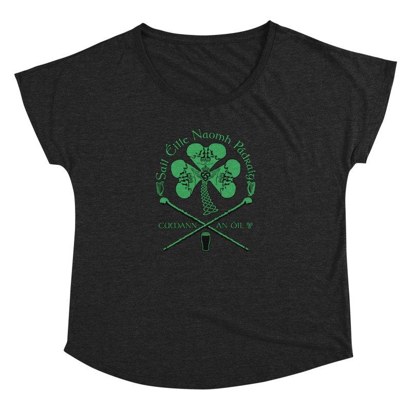 Saint Patrick's Shillelagh Drinking Society Women's Dolman Scoop Neck by Peregrinus Creative