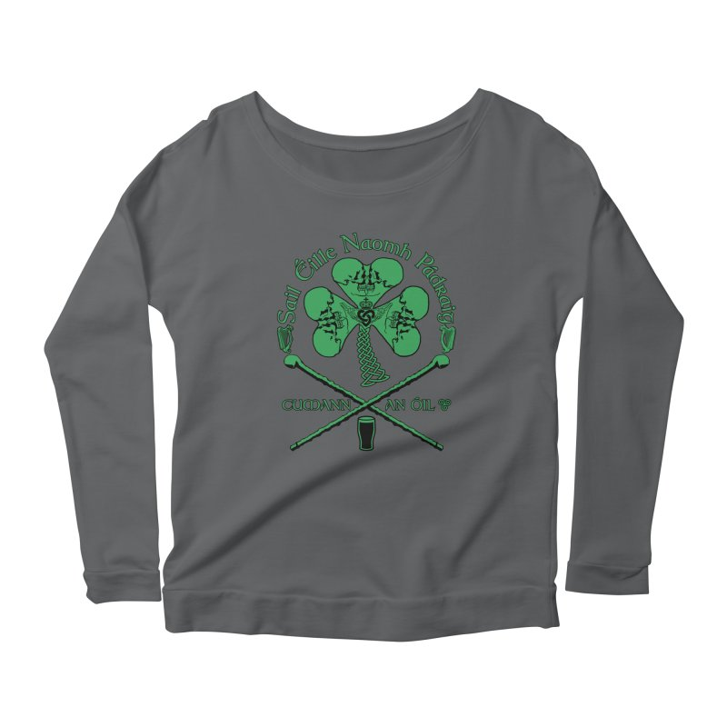 Saint Patrick's Shillelagh Drinking Society Women's Scoop Neck Longsleeve T-Shirt by Peregrinus Creative