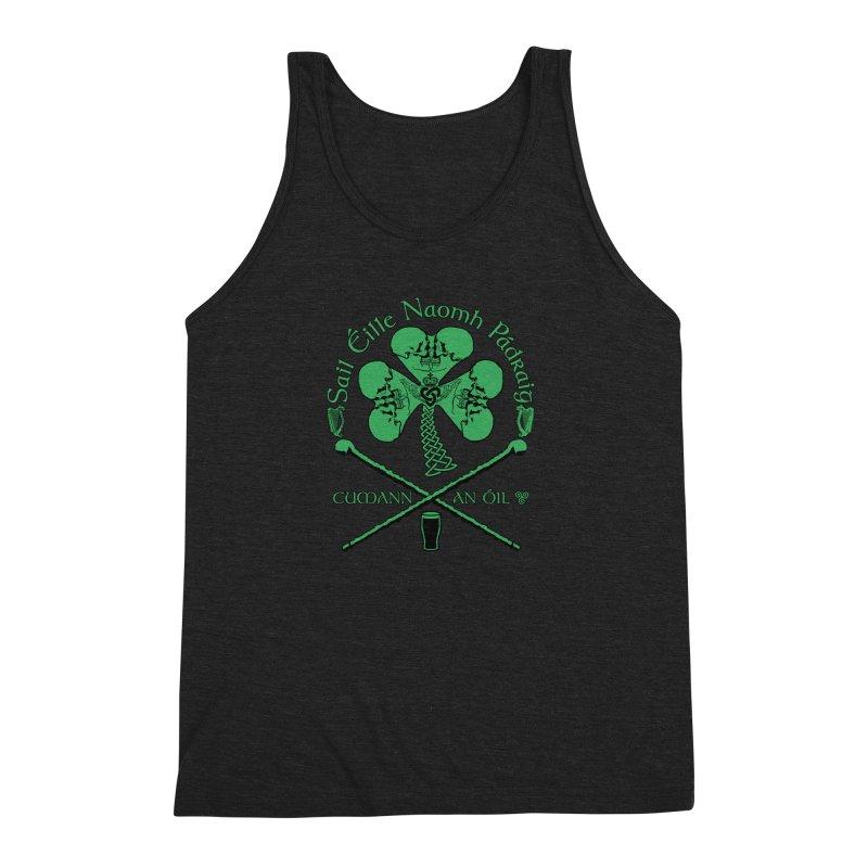 Saint Patrick's Shillelagh Drinking Society Men's Triblend Tank by Peregrinus Creative