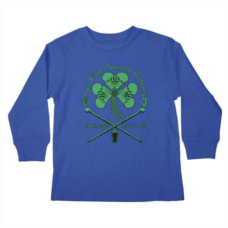 Saint Patrick's Shillelagh Drinking Society Kids Longsleeve T-Shirt by Peregrinus Creative