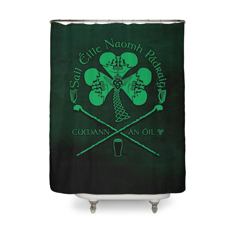 Saint Patrick's Shillelagh Drinking Society Home Shower Curtain by Peregrinus Creative