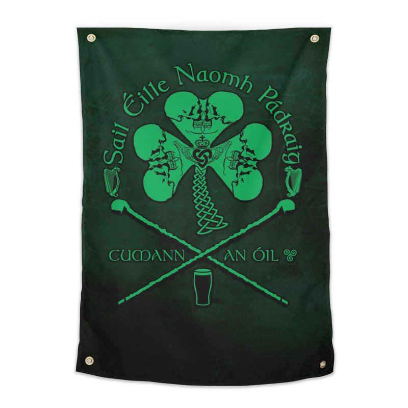 Saint Patrick's Shillelagh Drinking Society Home Tapestry by Peregrinus Creative