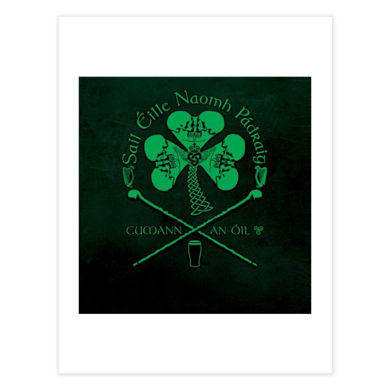 Saint Patrick's Shillelagh Drinking Society Home Fine Art Print by Peregrinus Creative