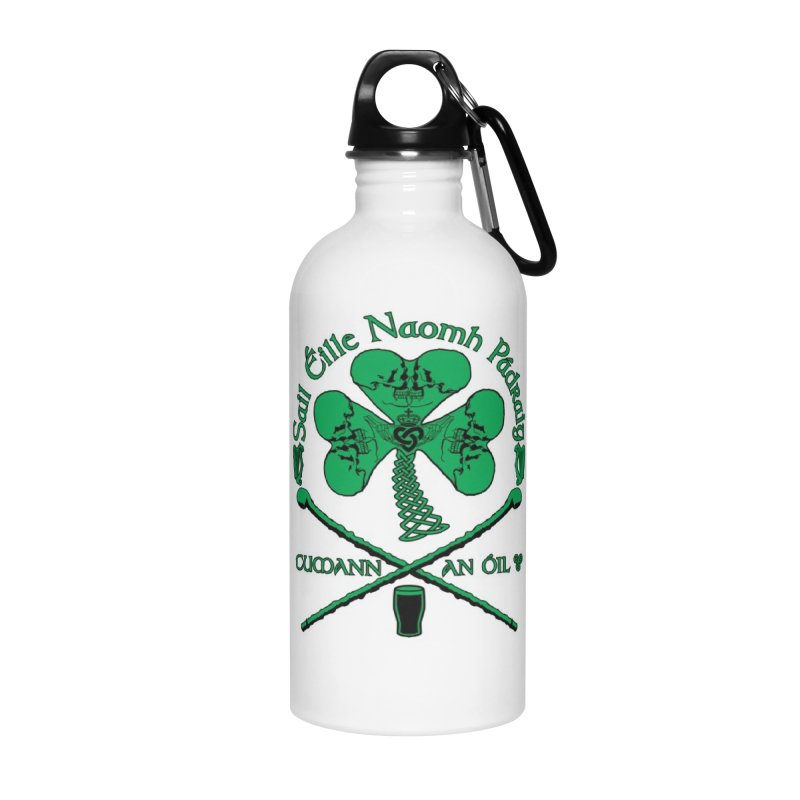 Saint Patrick's Shillelagh Drinking Society Accessories Water Bottle by Peregrinus Creative