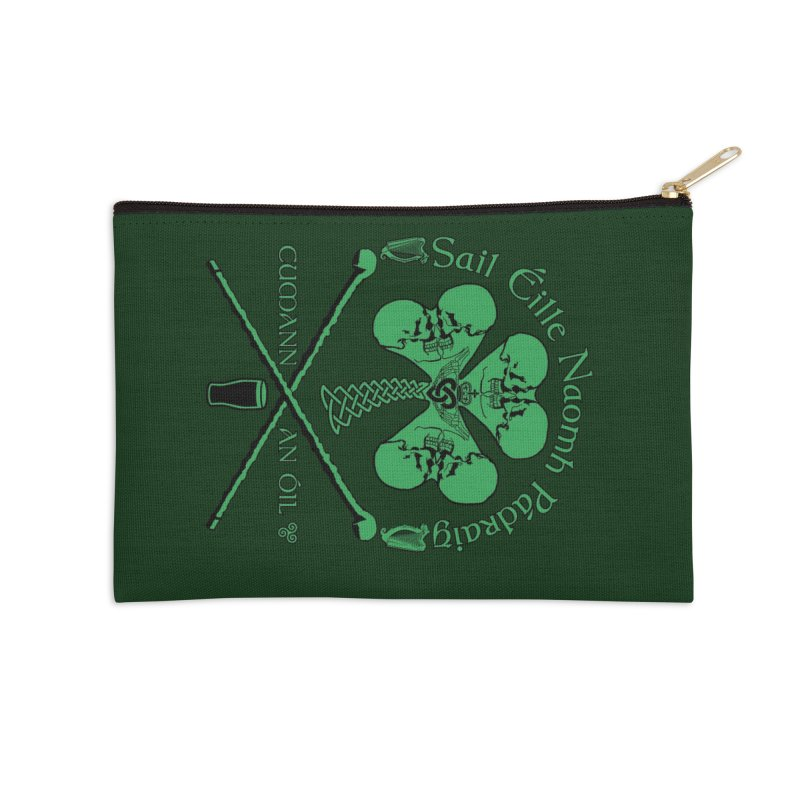 Saint Patrick's Shillelagh Drinking Society Accessories Zip Pouch by Peregrinus Creative