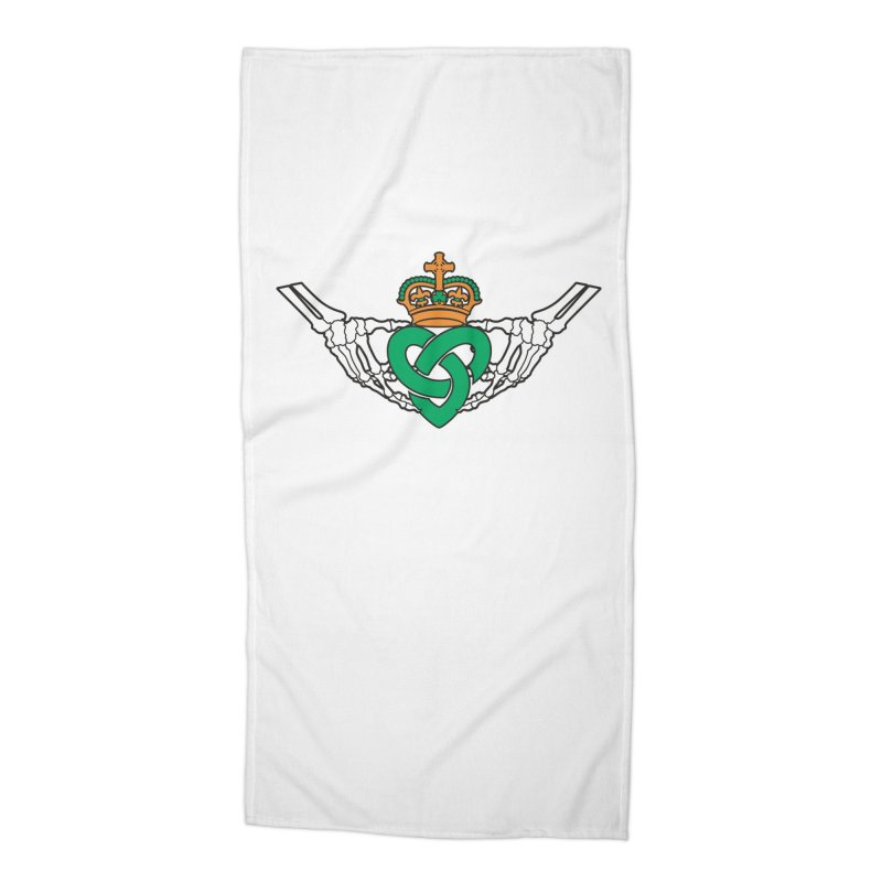 Gothic inspired Claddagh with Celtic Knot Accessories Beach Towel by Peregrinus Creative