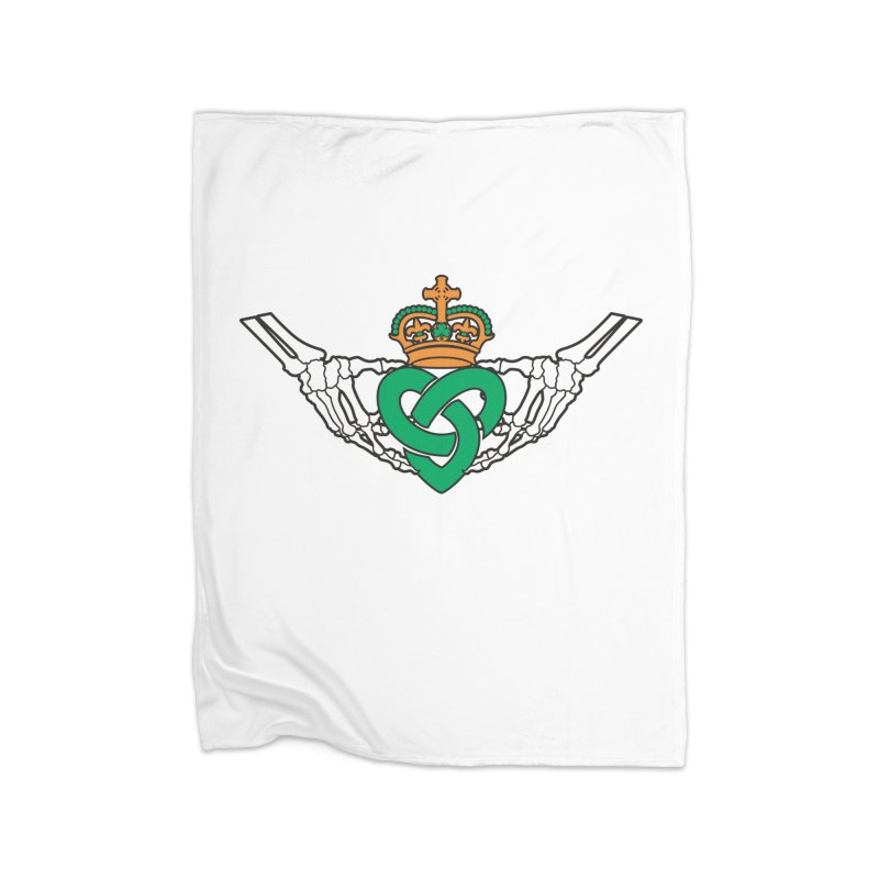 Gothic inspired Claddagh with Celtic Knot Home Fleece Blanket Blanket by Peregrinus Creative