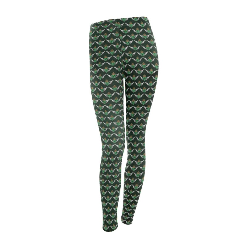 Gothic inspired Claddagh with Celtic Knot Women's Leggings Bottoms by Peregrinus Creative