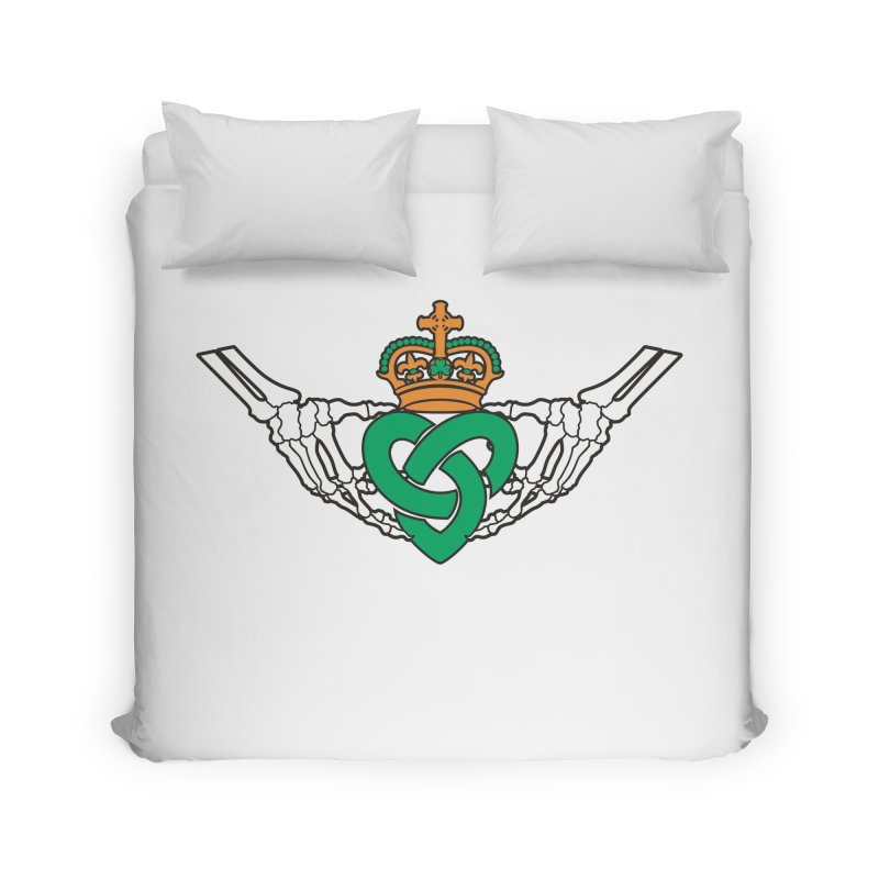 Gothic inspired Claddagh with Celtic Knot Home Duvet by Peregrinus Creative