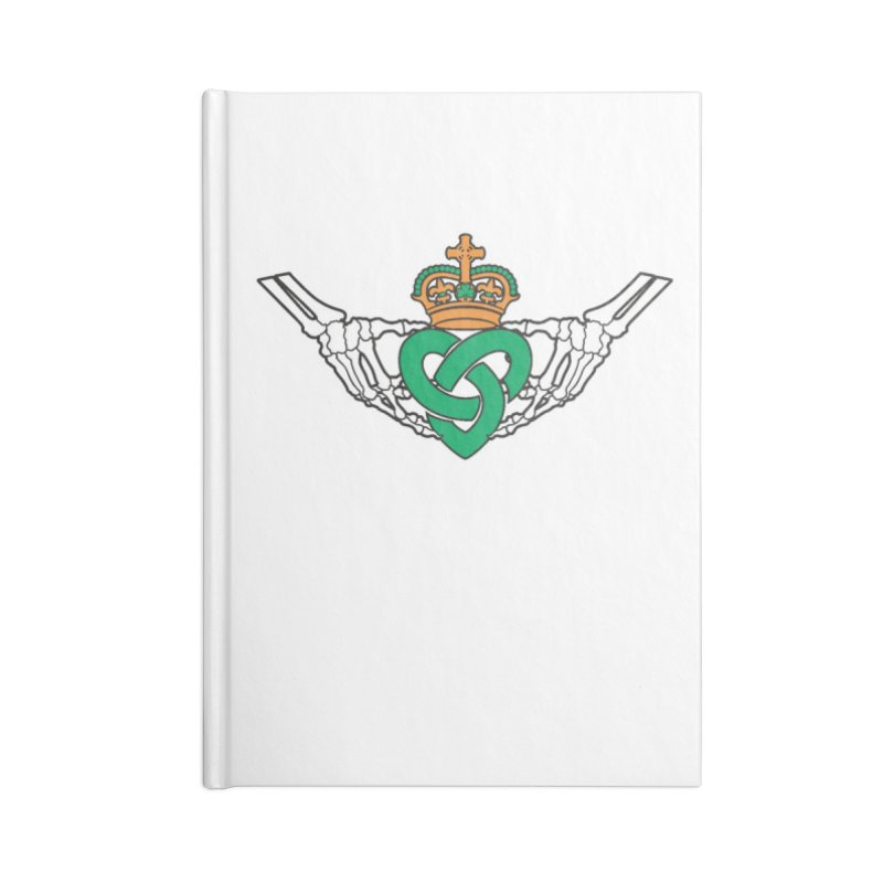 Gothic inspired Claddagh with Celtic Knot Accessories Lined Journal Notebook by Peregrinus Creative