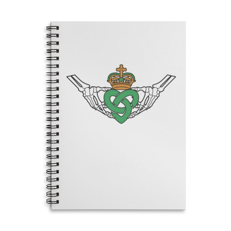 Gothic inspired Claddagh with Celtic Knot Accessories Lined Spiral Notebook by Peregrinus Creative