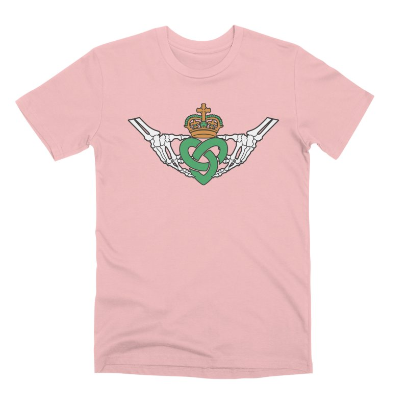 Gothic inspired Claddagh with Celtic Knot Men's Premium T-Shirt by Peregrinus Creative