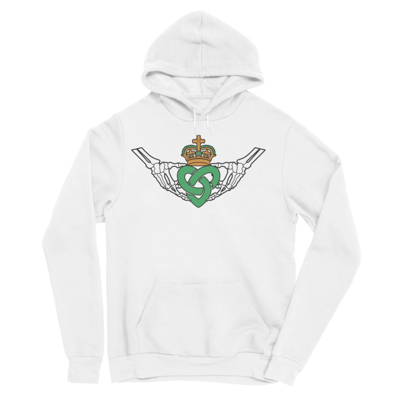 Gothic inspired Claddagh with Celtic Knot Women's Sponge Fleece Pullover Hoody by Peregrinus Creative