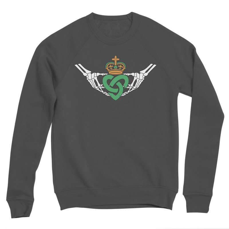 Gothic inspired Claddagh with Celtic Knot Women's Sponge Fleece Sweatshirt by Peregrinus Creative
