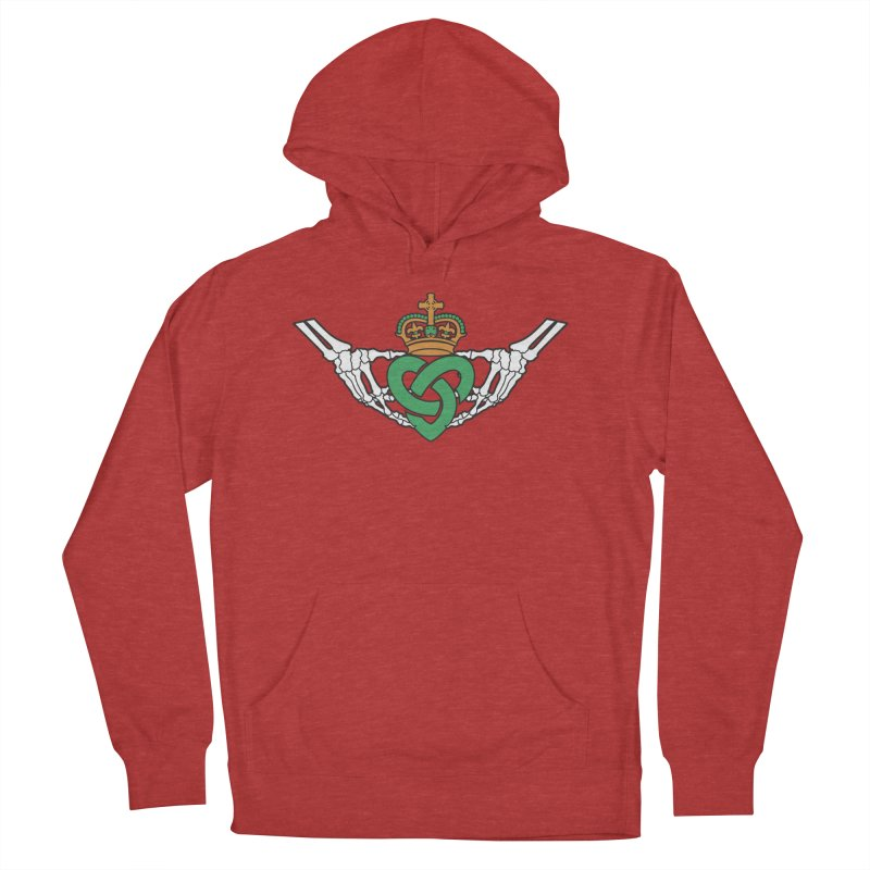 Gothic inspired Claddagh with Celtic Knot Men's French Terry Pullover Hoody by Peregrinus Creative