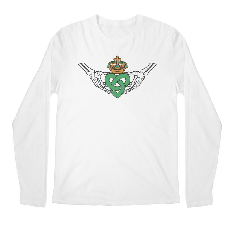 Gothic inspired Claddagh with Celtic Knot Men's Regular Longsleeve T-Shirt by Peregrinus Creative