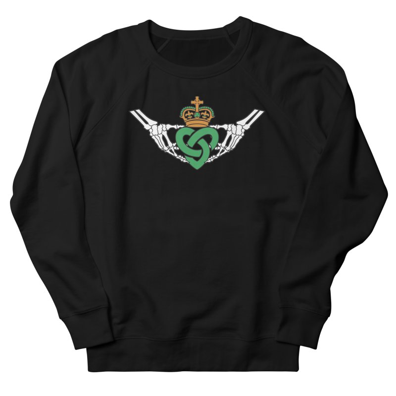 Gothic inspired Claddagh with Celtic Knot Men's French Terry Sweatshirt by Peregrinus Creative