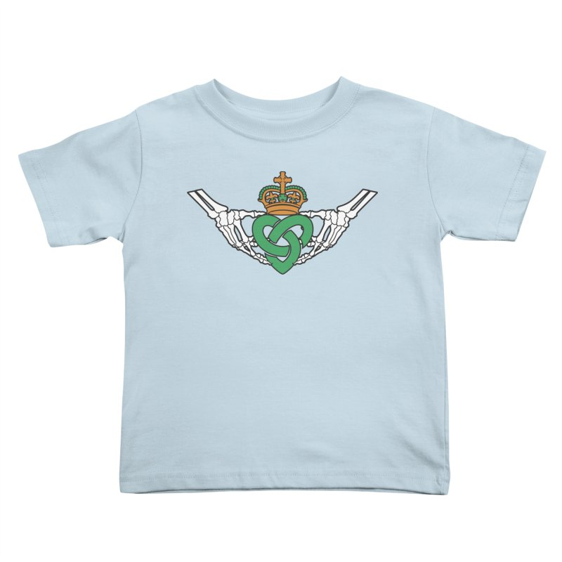 Gothic inspired Claddagh with Celtic Knot Kids Toddler T-Shirt by Peregrinus Creative