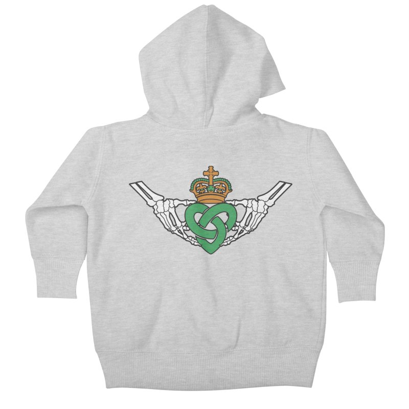 Gothic inspired Claddagh with Celtic Knot Kids Baby Zip-Up Hoody by Peregrinus Creative