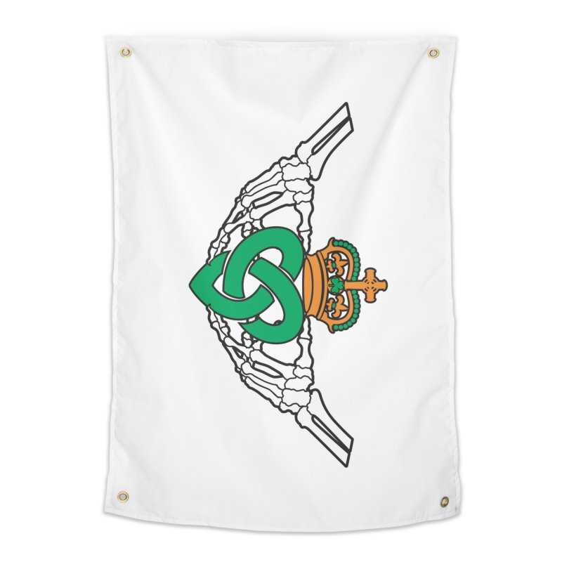 Gothic inspired Claddagh with Celtic Knot Home Tapestry by Peregrinus Creative