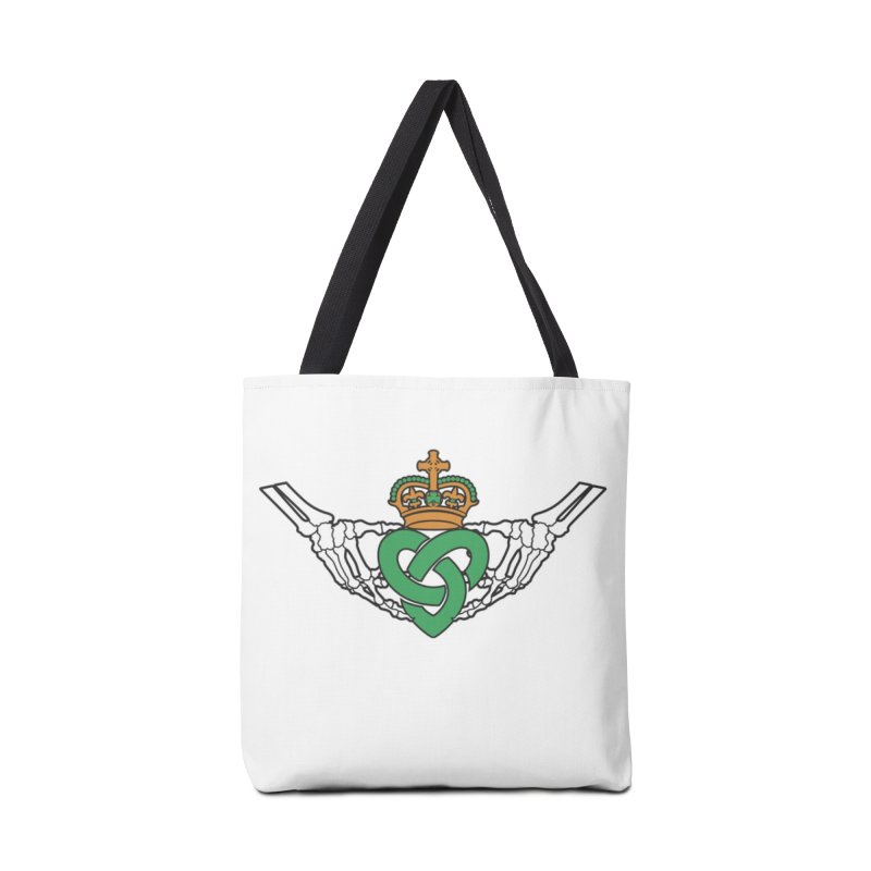 Gothic inspired Claddagh with Celtic Knot Accessories Tote Bag Bag by Peregrinus Creative