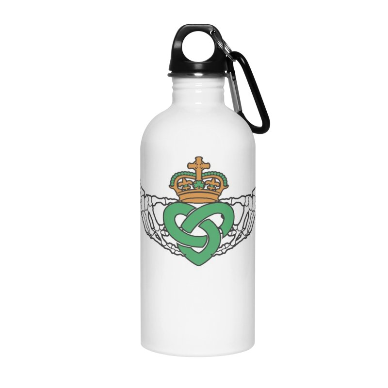 Gothic inspired Claddagh with Celtic Knot Accessories Water Bottle by Peregrinus Creative