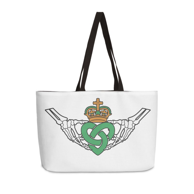 Gothic inspired Claddagh with Celtic Knot Accessories Weekender Bag Bag by Peregrinus Creative