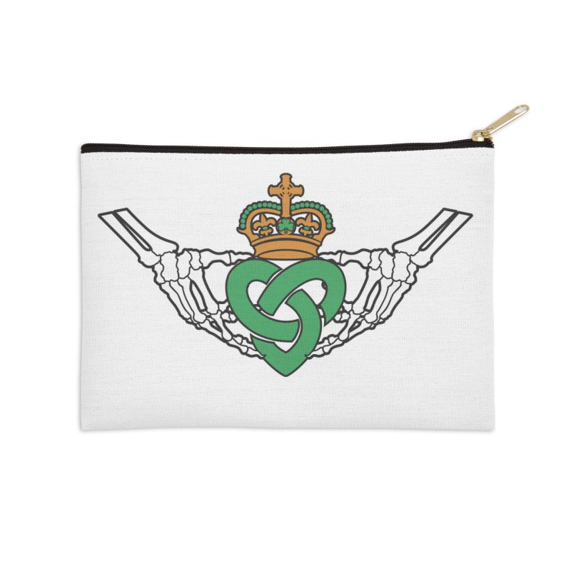 Gothic inspired Claddagh with Celtic Knot Accessories Zip Pouch by Peregrinus Creative