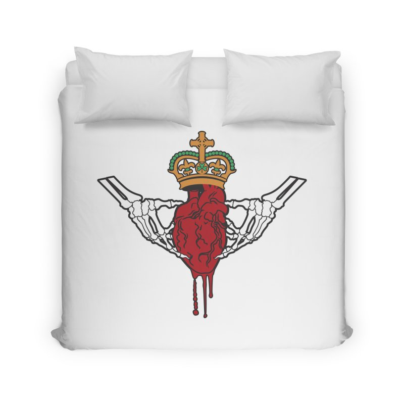 Gothic Horror inspired Claddagh Home Duvet by Peregrinus Creative