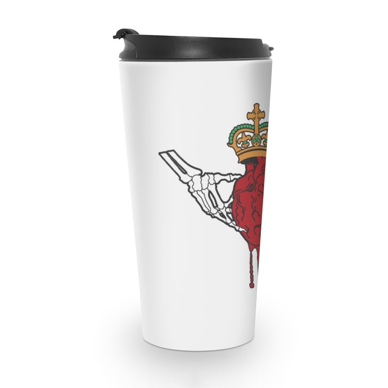Gothic Horror inspired Claddagh Accessories Travel Mug by Peregrinus Creative