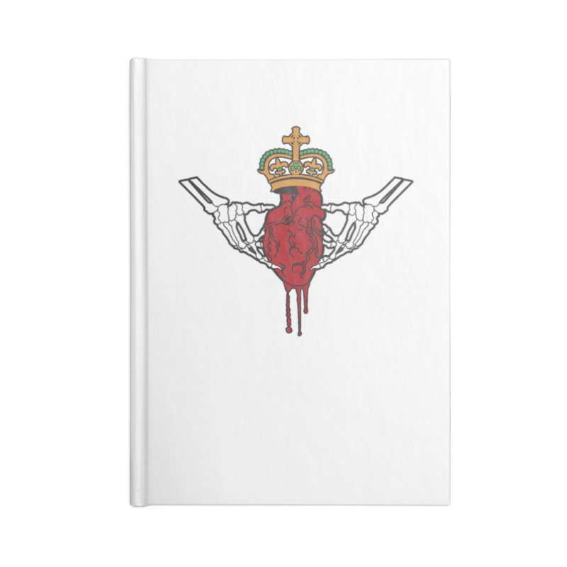Gothic Horror inspired Claddagh Accessories Lined Journal Notebook by Peregrinus Creative