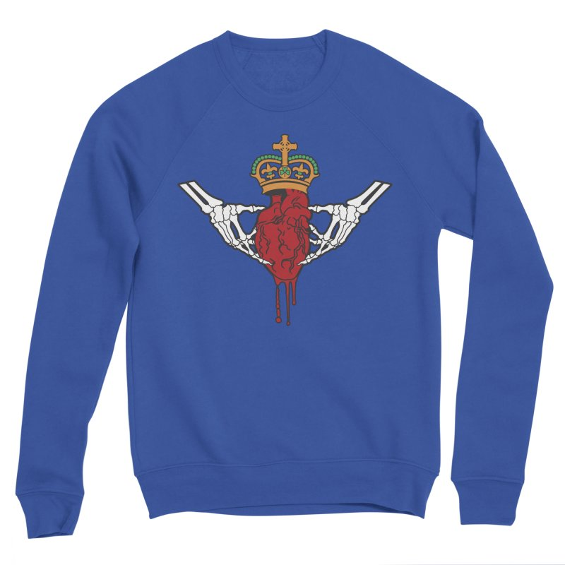 Gothic Horror inspired Claddagh Women's Sponge Fleece Sweatshirt by Peregrinus Creative
