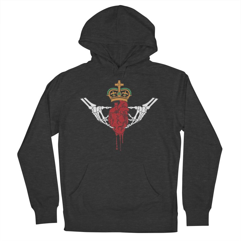 Gothic Horror inspired Claddagh Men's French Terry Pullover Hoody by Peregrinus Creative