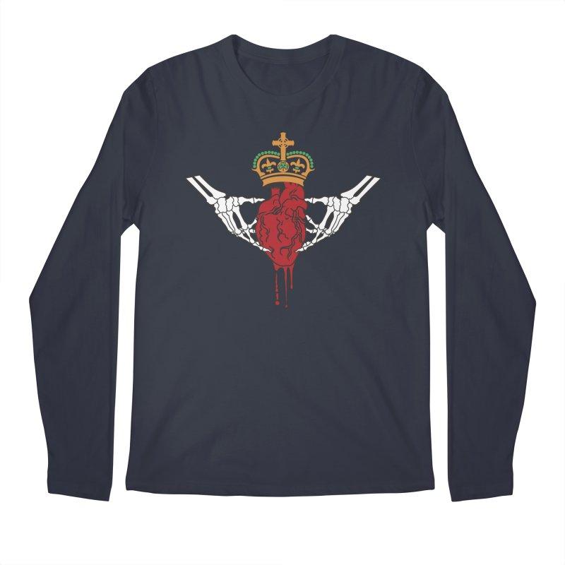 Gothic Horror inspired Claddagh Men's Regular Longsleeve T-Shirt by Peregrinus Creative