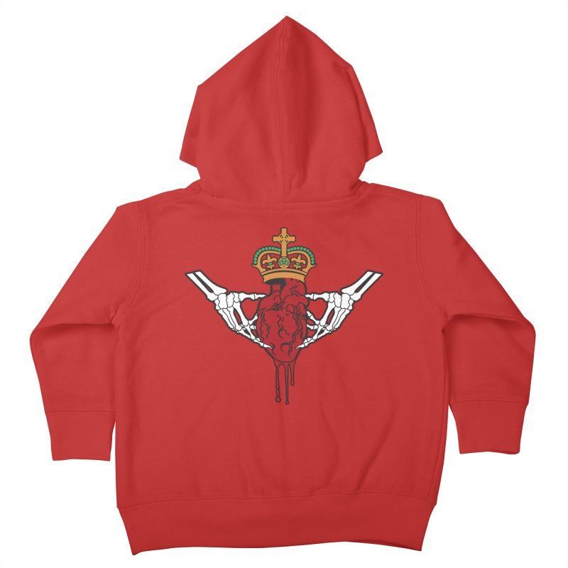 Gothic Horror inspired Claddagh Kids Toddler Zip-Up Hoody by Peregrinus Creative