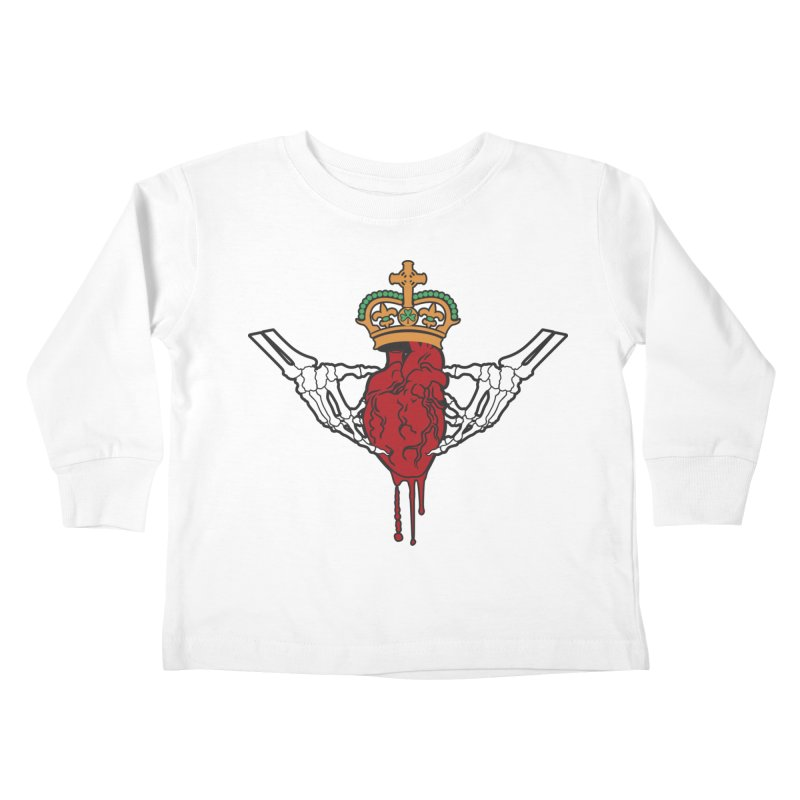 Gothic Horror inspired Claddagh Kids Toddler Longsleeve T-Shirt by Peregrinus Creative