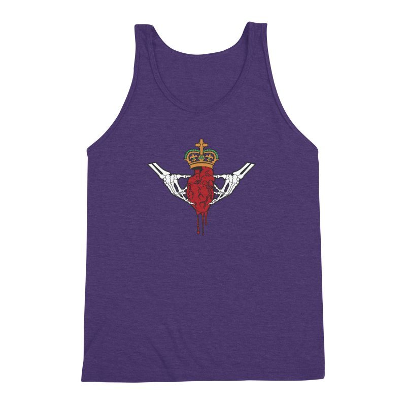 Gothic Horror inspired Claddagh Men's Triblend Tank by Peregrinus Creative