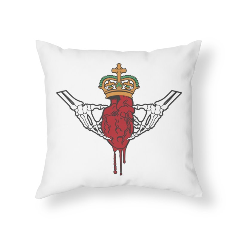 Gothic Horror inspired Claddagh Home Throw Pillow by Peregrinus Creative
