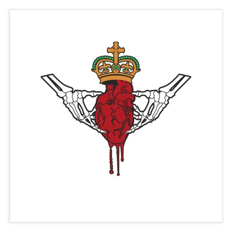 Gothic Horror inspired Claddagh Home Fine Art Print by Peregrinus Creative