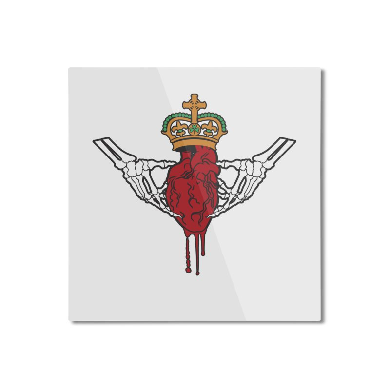 Gothic Horror inspired Claddagh Home Mounted Aluminum Print by Peregrinus Creative