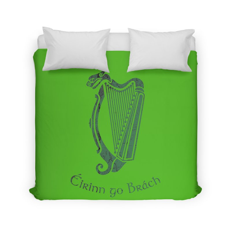 Éirinn go Brách (Ireland to the End of Time) Home Duvet by Peregrinus Creative
