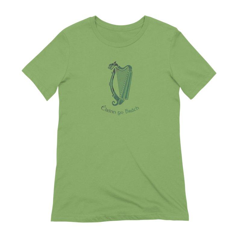 Éirinn go Brách (Ireland to the End of Time) Women's Extra Soft T-Shirt by Peregrinus Creative