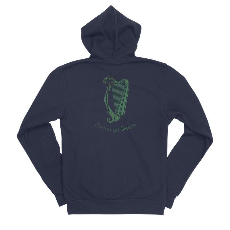 Éirinn go Brách (Ireland to the End of Time) Men's Sponge Fleece Zip-Up Hoody by Peregrinus Creative