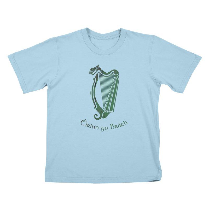 Éirinn go Brách (Ireland to the End of Time) Kids T-Shirt by Peregrinus Creative