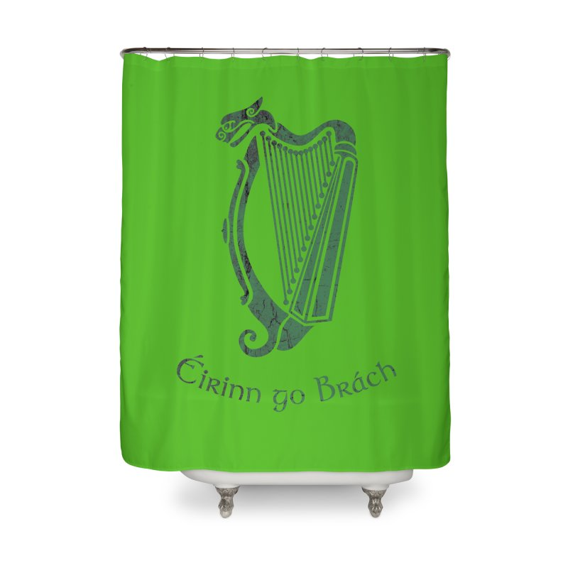 Éirinn go Brách (Ireland to the End of Time) Home Shower Curtain by Peregrinus Creative