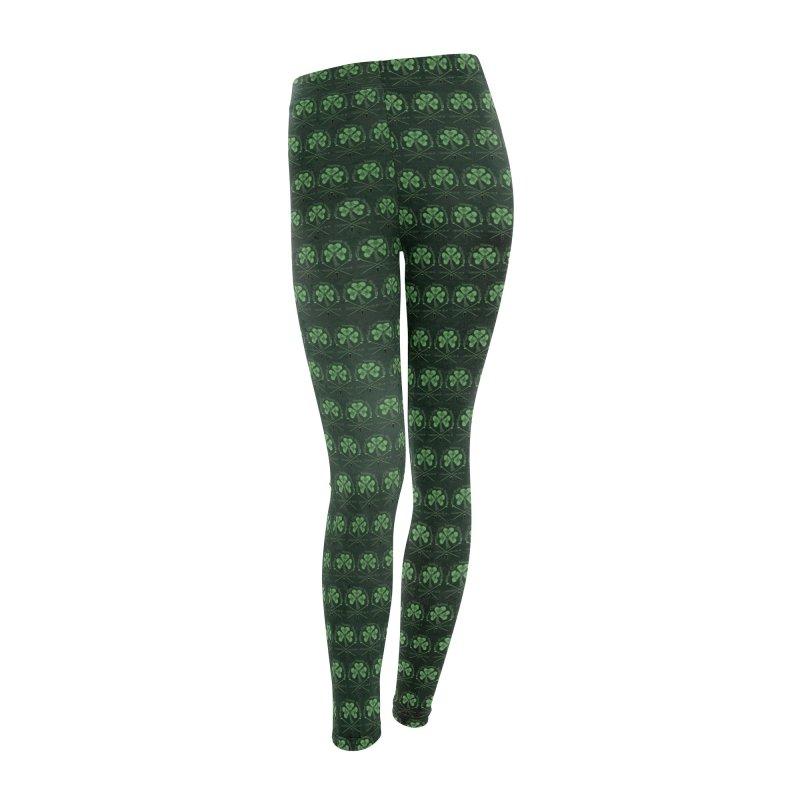 Celtic Shamrock knotwork Women's Leggings Bottoms by Peregrinus Creative